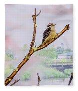 Bird On The Brunch Fleece Blanket