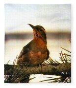 Bird On The Wire Fleece Blanket