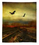 Country Bird Rail Fleece Blanket