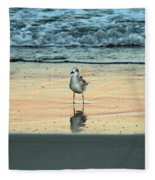 Bird Reflection Fleece Blanket