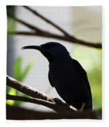 Bird Silhouette Fleece Blanket