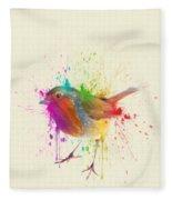 Bird Study Fleece Blanket