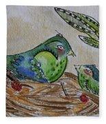 Bird Talk Fleece Blanket