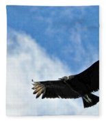 Bird The Black Vulture Fleece Blanket