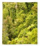 Bird View Of Lush Green Sub-tropical Nz Rainforest Fleece Blanket