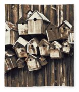Birdhouse Condominium Fleece Blanket