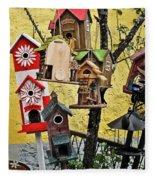 Birdhouse Subdivision Fleece Blanket