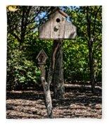 Birdhouses In The Trees Fleece Blanket
