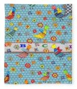 Birds And Flowers For Children Fleece Blanket