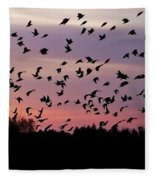 Birds At Sunrise Fleece Blanket