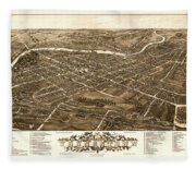 Bird's-eye View Of Youngstown Ohio 1882 Fleece Blanket
