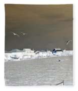 Birds In Flight Over Lafitte Bay Fleece Blanket