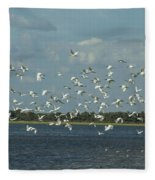 Birds In Flight Fleece Blanket