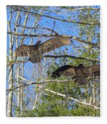 Birds Of A Feather Flock Together Fleece Blanket