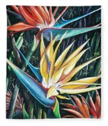 Birds Of Paradise  2   Sold Fleece Blanket