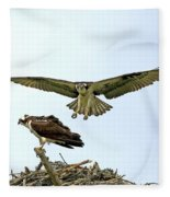 Birds Of Prey Fleece Blanket