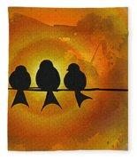 Birds On A Wire Fleece Blanket