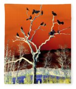 Birds On Tree Fleece Blanket