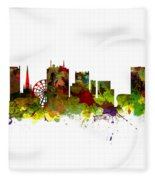 Birmingham Uk City Skyline Fleece Blanket
