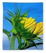 Birth Of A Sunflower By Kaye Menner Fleece Blanket