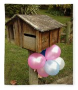 Birthday Balloons Fleece Blanket