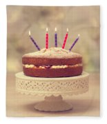 Birthday Cake Fleece Blanket