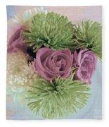 Birthday Flowers Three Fleece Blanket