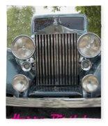 Birthday Rolls-royce Fleece Blanket