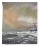 Bismarck Signals Prinz Eugen  Fleece Blanket
