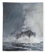 Bismarck Through Curtains Of Rain Fleece Blanket