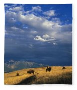 Bison Back From The Brink Fleece Blanket