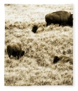 Bison Herd Fleece Blanket