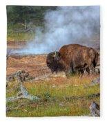 Bison Mud Fleece Blanket