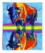 Bison Reflections Fleece Blanket