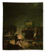 Bivouac Of Napoleon I 1769-1821 On The Battlefield Of The Battle Of Wagram, 5th-6th July 1809, 1810 Fleece Blanket