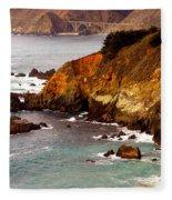 Bixby Bridge Of Big Sur California Fleece Blanket