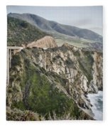 Bixby Bridge Vista Fleece Blanket