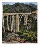 Bixby Creek Bridge Fleece Blanket