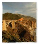 Bixby Creek Bridge In Big Sur Fleece Blanket