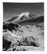 Bizarre Landscape Bolivia Black And White Fleece Blanket