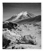 Bizarre Landscape Bolivia Black And White Select Focus Fleece Blanket