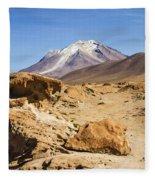 Bizarre Landscape Bolivia Fleece Blanket