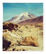 Bizarre Landscape Bolivia Old Postcard Fleece Blanket