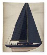 Black Alberg  Fleece Blanket