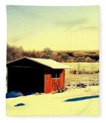 Black And Color Fleece Blanket