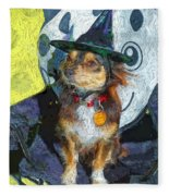 Black And Tan Chihuahua - Such A Good Little Witch Fleece Blanket