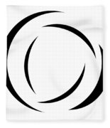 Black And White - 105 Fleece Blanket