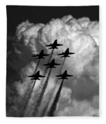 Black And White And Blue Angels Fleece Blanket