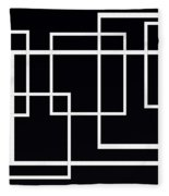 Black And White Art - 145 Fleece Blanket