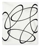 Black And White Art - 148 Fleece Blanket